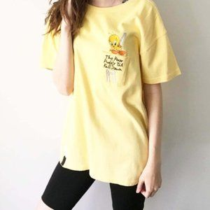 90s Vintage Tweety Pocket Tee Shirt Embroidered M